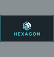 xr hexagon logo design inspiration vector image vector image