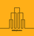 building abstract logo concept background vector image