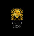 abstract golden lion logo sign symbol icon vector image