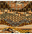 african style fabric patchwork background vector image vector image
