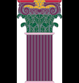 Antique column pillar vector image vector image