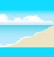beach cartoon vector image vector image
