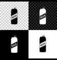 beer can icon isolated on black white and vector image