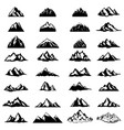 big set of mountain icons isolated on white vector image vector image