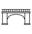 brick bridge icon outline style vector image vector image