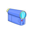 Camcorder icon in cartoon style vector image