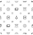 card icons pattern seamless white background vector image vector image