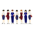 cartoon business woman character different pose vector image vector image