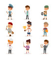 cartoon profession kids children set vector image vector image