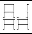 chair home furniture lineart design interior vector image vector image