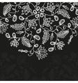 chalkboard floral pattern vector image vector image