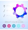 cogwheel icon with infographic elements vector image