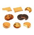 Cookies set vector image vector image