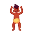Cute little baby boy dancing happily vector image vector image