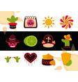 day dead mexican celebration decoration vector image
