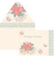 Design envelope for a wedding invitation in retro vector image vector image