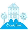 Doodle style house vector image vector image
