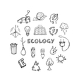 Ecology Hand Drawn Icons Set vector image vector image