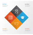 education icons set collection of haversack vector image vector image