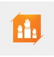 Election or voting sign icon Hands raised up vector image
