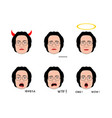 emotion senior woman in cartoon style vector image vector image