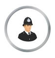 English policeman icon in cartoon style isolated vector image vector image