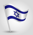 flag israel vector image vector image