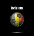 flag of belgium in the form of a soccer ball vector image