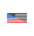 flag usa color and black and white flag halved vector image vector image