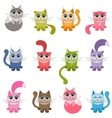 funny colorful cats vector image vector image