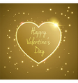 Gold Heart valentines day vector image