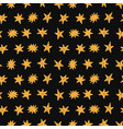 golden stars seamless pattern on black background vector image