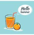 Hand drawing hello summer card vector image vector image