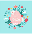 happy easter greeting card posteror banner with vector image vector image