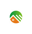 home roof icon logo vector image vector image