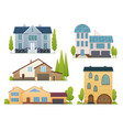 houses exterior front view vector image