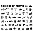 icons of travel and trips vector image