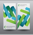 infographic vertical banners vector image vector image