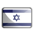 israel flag on white background vector image vector image