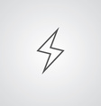 lightning outline symbol dark on white background vector image vector image