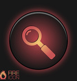 magnifier search vector image