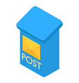 mailbox icon isometric 3d style vector image vector image