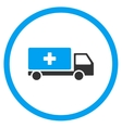 Medical Shipment Rounded Icon vector image vector image