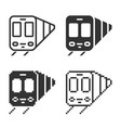 monochromatic train icon in different variants vector image