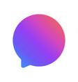 new message speech bubble vector image vector image