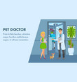 pet doctor appointment banner template vector image vector image