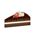 piece of cake with strawberry vector image