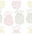 pineapples hand drawing seamless pattern vector image vector image