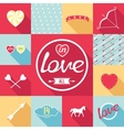 Pop-art set symbol of love vector image vector image