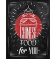 Poster Chinese food house chalk vector image